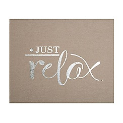 Graham & Brown - Just Relax Embellished Fabric Wall Art
