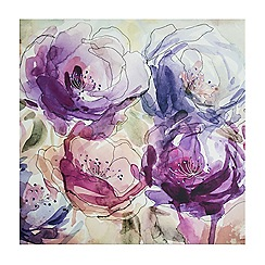 Graham & Brown - Stitched Sequin Spring Floral Blooms Printed Canvas Wall Art