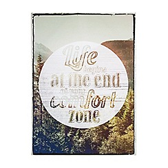Graham & Brown - Life Begins Quote Wall Art