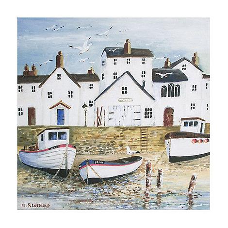 Graham & Brown - Harbourside Coastal Scene Printed Canvas Wall Art