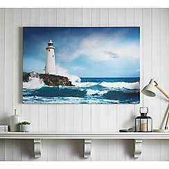 Graham & Brown - Drama Shore Coastal Lighthouse Landcape Printed Canvas Wall Art