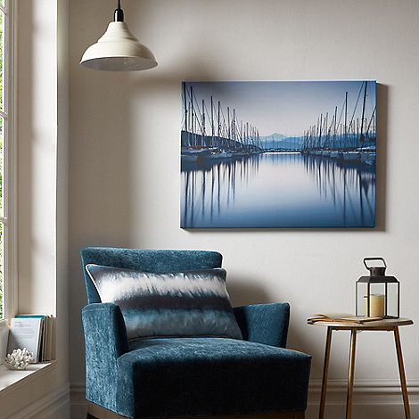 Graham & Brown - Harbour Seaside Boats Reflections Printed Canvas Wall Art