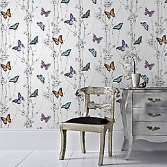 Fresco - Multicoloured Flutter Forest Butterfly Wallpaper