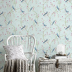 Superfresco Easy - Duck Egg Songbird Paste The Wall Wallpaper