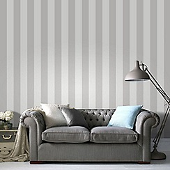 Superfresco Easy - White and Silver Sparkle Stripe Paste The Wall Wallpaper