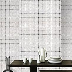 Graham & Brown - White Madrid Tile Effect Wall Mural