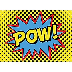 Graham & Brown Kids - Retro Cartoon Comic Pow Quote Printed Canvas Wall Art