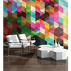 Graham & Brown - Colourful Geometric Pattern Wall Mural