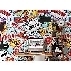 Graham & Brown - Kissing Pop Art Comic Wall Mural