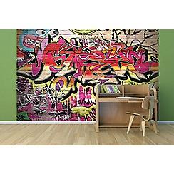 Graham & Brown - City Graffiti Wall Mural