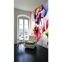 Graham & Brown - Summer Watercolour Flora Wall Mural