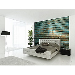 Graham & Brown - Blue Washed Timber Wall Mural