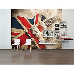 Graham & Brown - Union Jack Rock Guitar Wall Mural