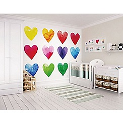 Graham & Brown - Bright Colour My Heart Wall Mural
