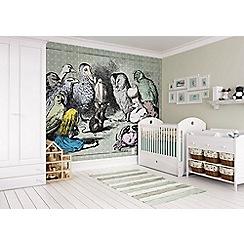 Graham & Brown - Alice in Wonderland Animals Meeting Wall Mural
