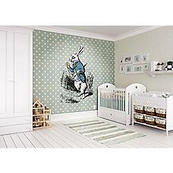 Graham & Brown - Alice In Wonderland White Rabbit Wall Mural