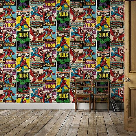 Marvel marvel avengers breakout retro wallpaper debenhams - Marvel retro wallpaper ...