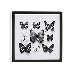 Graham & Brown - Black Butterfly Studies Framed Print