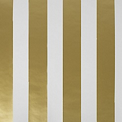 Graham & Brown Kids - Gold Stripe Wallpaper