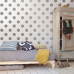 Graham & Brown Kids - Silver Dotty Wallpaper