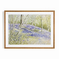 Graham & Brown - Purple Hand painted Through the Trees Framed Print