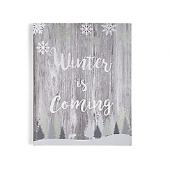 Graham & Brown - Grey Winter is Coming Print Wall Art