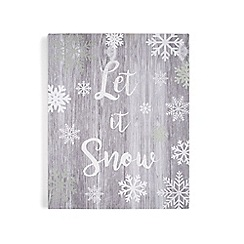 Graham & Brown - Grey  Let it Snow Print Wall Art
