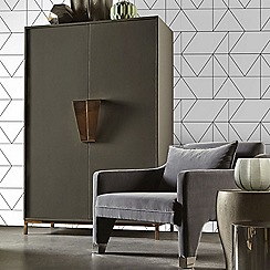Kelly Hoppen - Black and White 'Kellys Geo' Designer Wallpaper