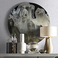 Kelly Hoppen - Silver 'Shimmer' Designer Wallpaper