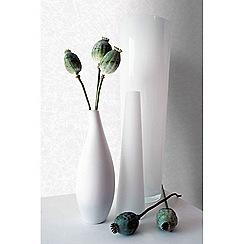 Kelly Hoppen - White 'Shimmer' Designer Wallpaper
