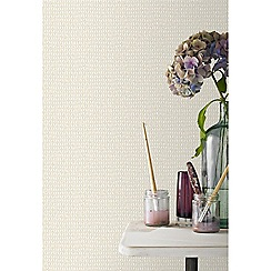 Kelly Hoppen - Cream 'Weave' Designer Wallpaper