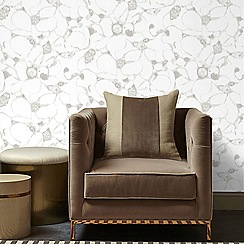 Kelly Hoppen - Silver 'Splash' Designer Wallpaper
