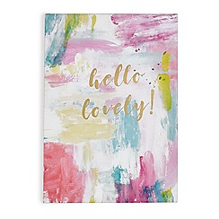 Graham & Brown - Pink Hello Lovely Printed Canvas