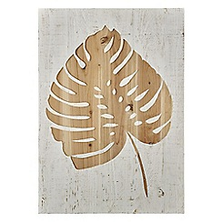 Graham & Brown - Neutral Tropical Leaf Wood Panel
