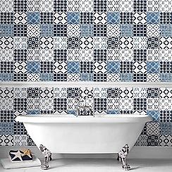 Contour - Blue Porches Wallpaper