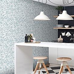 Contour - Blue Granito Textured Wallpaper