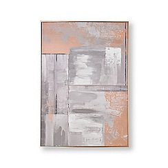 Graham & Brown - Rose gold glow hand painted canvas
