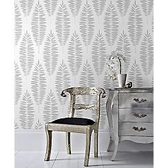 Boutique - Silver boutique lucia floral wallpaper