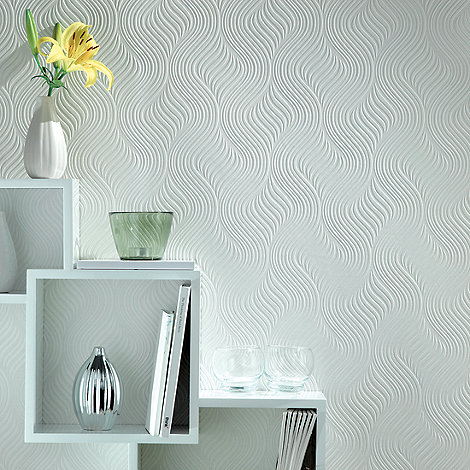 Superfresco Paintables - White Pure Wallpaper