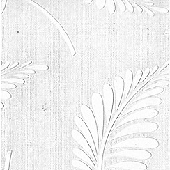 Superfresco Paintables - White Fern Wallpaper