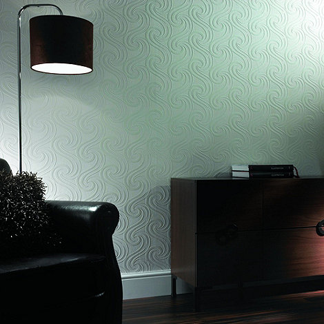 Superfresco Paintables - White Mistral Wallpaper