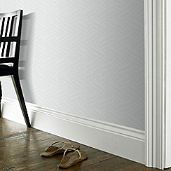 Superfresco Paintables - White Twister Wallpaper