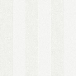 Superfresco - White Contemporary Stripe Paintable Wallpaper