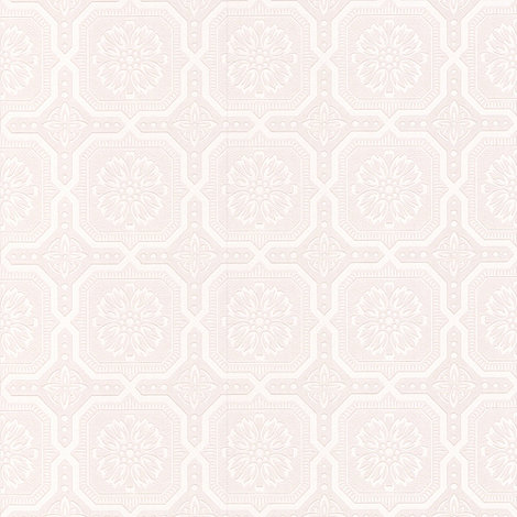 Superfresco Paintables - White Buckingham Wallpaper