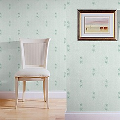Superfresco - Green garda motif wallpaper