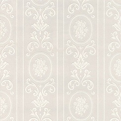 Superfresco Paintables - White Cameo Stripe Wallpaper