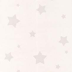 Superfresco Paintables - White Stars Wallpaper