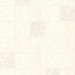 Contour - White Pebble Tile Wallpaper