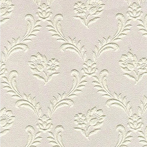 Superfresco Paintables - White Floral Trellis Wallpaper