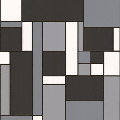 Contour Black Geo Wallpaper - . -
